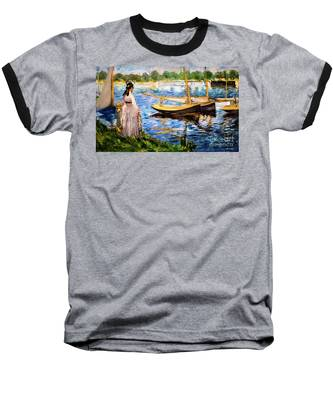 Banks Of The Seine At Argenteuil Baseball T-Shirt