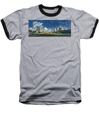 Bbt Baseball Charlotte Nc Knights Baseball Stadium And City Skyl Baseball T-Shirt