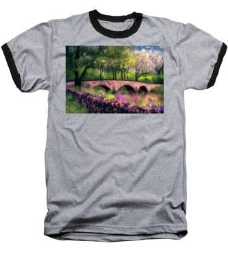 Burnside Bridge In Spring Baseball T-Shirt by Lois Bryan