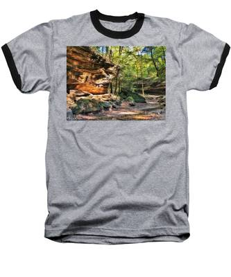 Baseball T-Shirt featuring the photograph Carved Passage by Andrea Platt