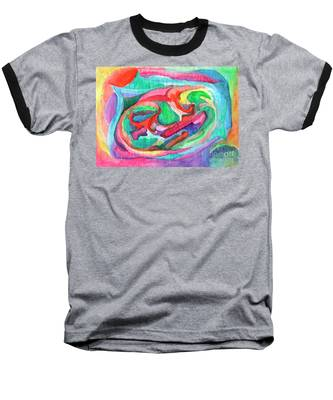 Colorful Abstraction Baseball T-Shirt