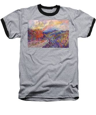 Country Road In The Autumn Forest Baseball T-Shirt