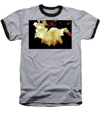 Creamy Rhododendron Baseball T-Shirt