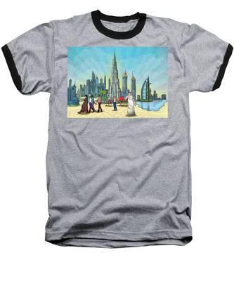 Dubai Illustration  Baseball T-Shirt