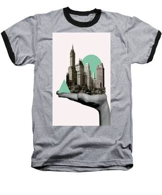 Exquisite Buildings On Palm Baseball T-Shirt