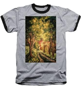 Firefly Twilight Baseball T-Shirt by Lois Bryan