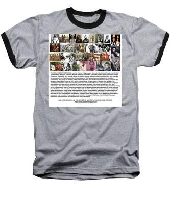 First Native Americans Were Indigo Twa Black Afrikans Baseball T-Shirt