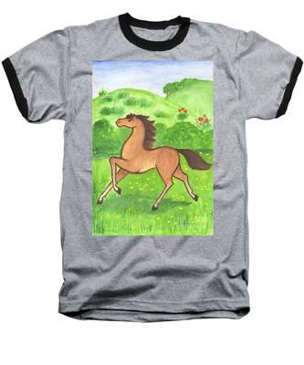 Foal In The Meadow Baseball T-Shirt