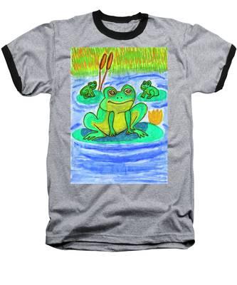 Funny Frogs Baseball T-Shirt