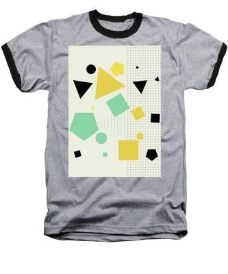 Geometric Painting 7  Baseball T-Shirt