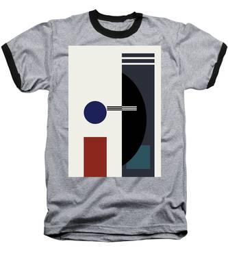 Geometric Painting 9  Baseball T-Shirt