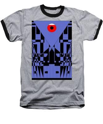 Geometric Red Dot  Baseball T-Shirt