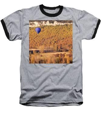 Hot Air Balloon, Beynac, France Baseball T-Shirt