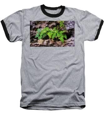 Baseball T-Shirt featuring the photograph House Of Stone by Andrea Platt