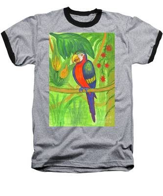 Macaw Parrot In The Wild Baseball T-Shirt