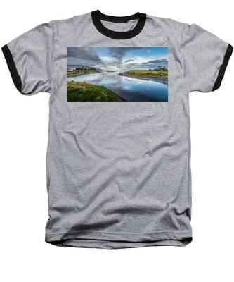 Malibu Lagoon To Santa Monica Skyline Baseball T-Shirt