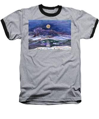 Moon Landscape Baseball T-Shirt