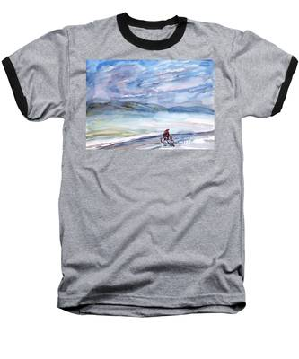 Morning Bike Ride Baseball T-Shirt