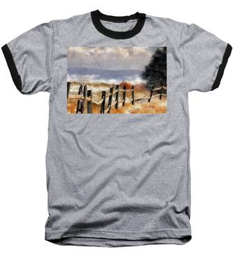Morning Mists In The Mountains Baseball T-Shirt by Lois Bryan