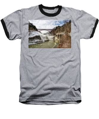 Winter At Letchworth State Park Baseball T-Shirt