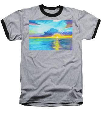 Ocean In The Morning Baseball T-Shirt