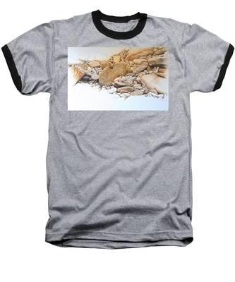 Painted Lady Butterfly Baseball T-Shirt