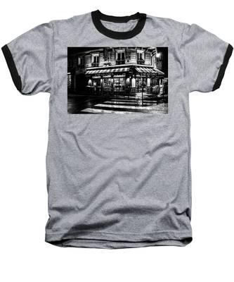 Paris At Night - Rue Bonaparte Baseball T-Shirt