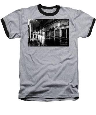 Paris At Night - Rue Saints Peres Baseball T-Shirt