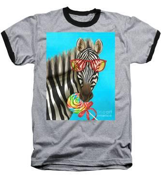 Party Safari Zebra Baseball T-Shirt