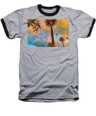 Rainbow Over The Palms Baseball T-Shirt
