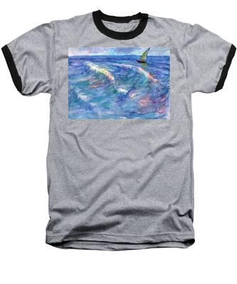 Sailboat In The Sea Baseball T-Shirt