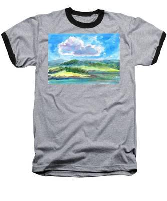 Summer Cloud In The Azure Sky Baseball T-Shirt
