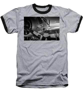 T-28b Trojan In Bw Baseball T-Shirt