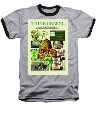 Think Green Baseball T-Shirt