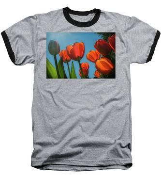 Towering Tulips Baseball T-Shirt