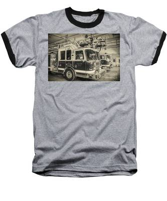Truck And Engine 211 Baseball T-Shirt