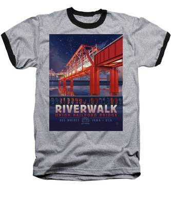 Union Railroad Bridge - Riverwalk Baseball T-Shirt