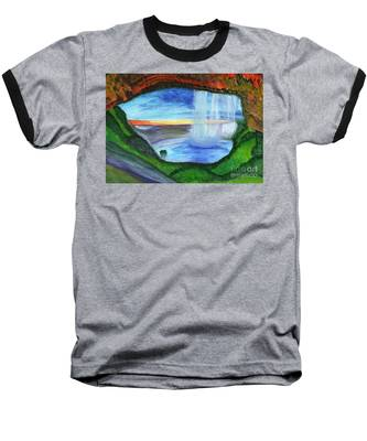 View From The Cave To The Waterfall Baseball T-Shirt