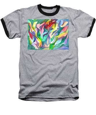 Watercolor Mosaic Baseball T-Shirt