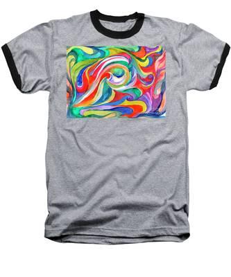 Watercolor's Swirl Baseball T-Shirt
