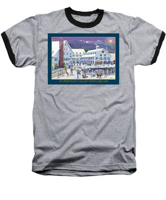 Waterville Valley At Wintertime Baseball T-Shirt