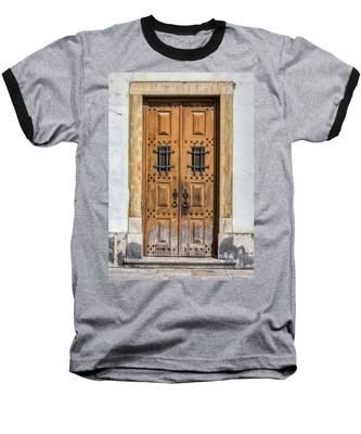 Weathered Brown Door Of Portugal Baseball T-Shirt