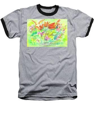 Wild Flowers In The Sunny Meadow Baseball T-Shirt