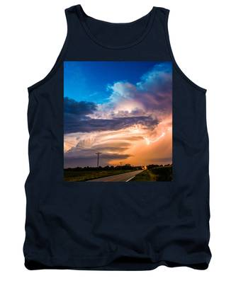 Tank Top featuring the photograph Wicked Good Nebraska Supercell by NebraskaSC