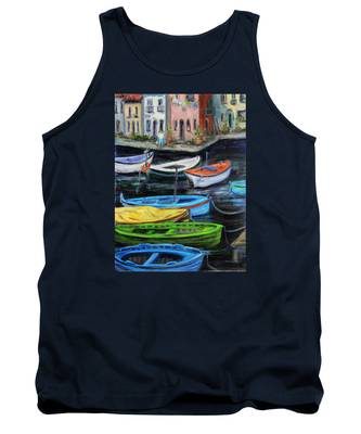 Boats In Front Of The Buildings II Tank Top