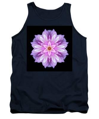 Violet Dahlia I Flower Mandala Tank Top