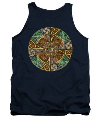 Celtic Aperture Mandala Tank Top