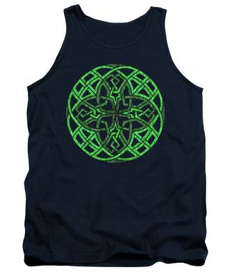 Celtic Clover Mandala Tank Top