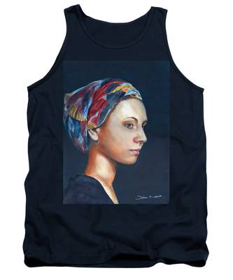 Girl With Headscarf Tank Top
