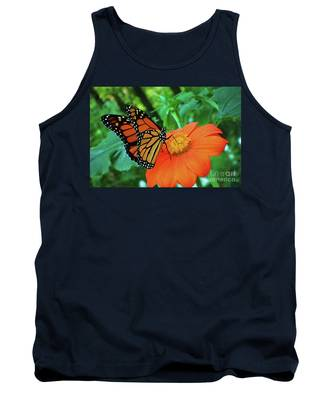 Monarch On Mexican Sunflower Tank Top